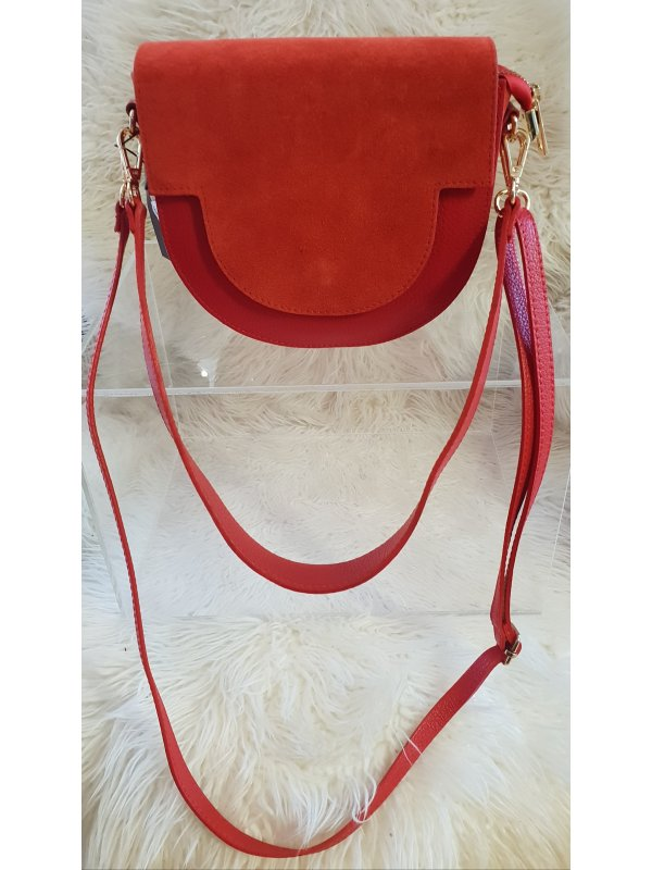 Leather & Suede Red handbag