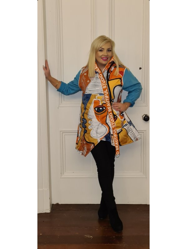 Multicolour Gilet With Zip