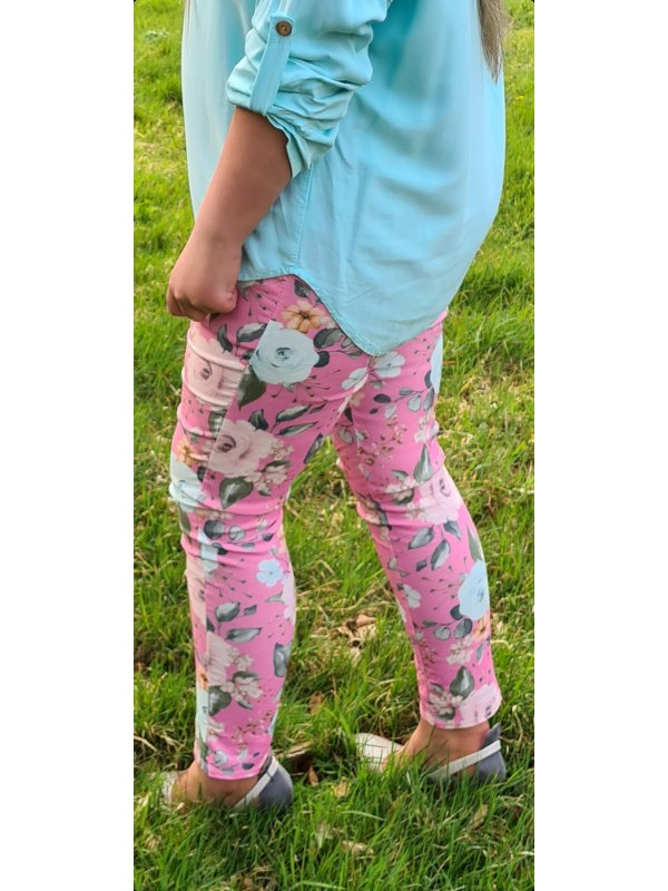Pink Floral Trousers size 10-16